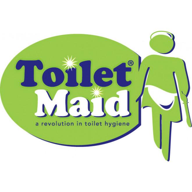 hygienische toilettenb rste ohne borsten aus silikon chrom toiletmaid. Black Bedroom Furniture Sets. Home Design Ideas